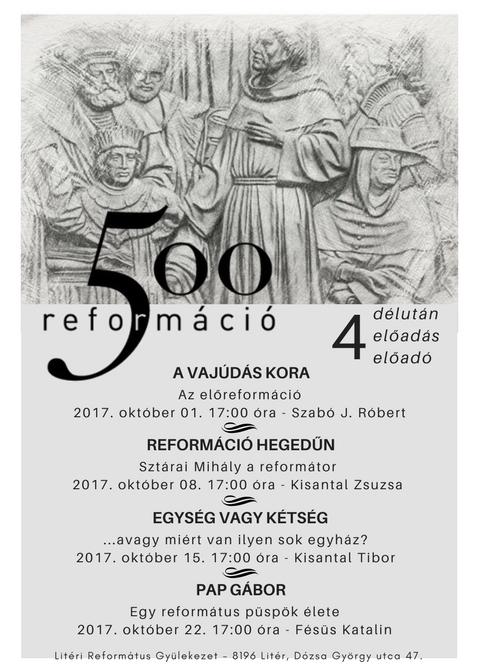 Litéri Református Gyülekezet októberi előadásai