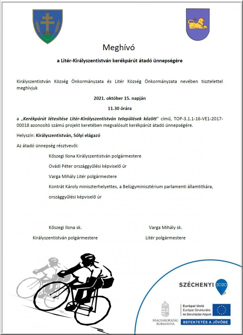 Kerékpárút átadása - 2021.10.15.