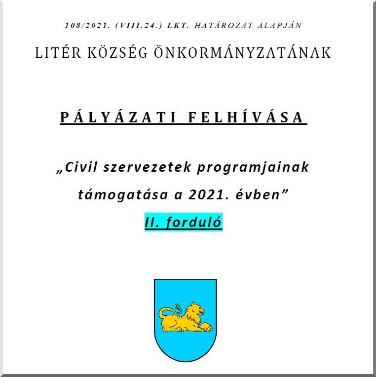 Civil szervezetek programjainak támogatása - 2021. II. forduló!