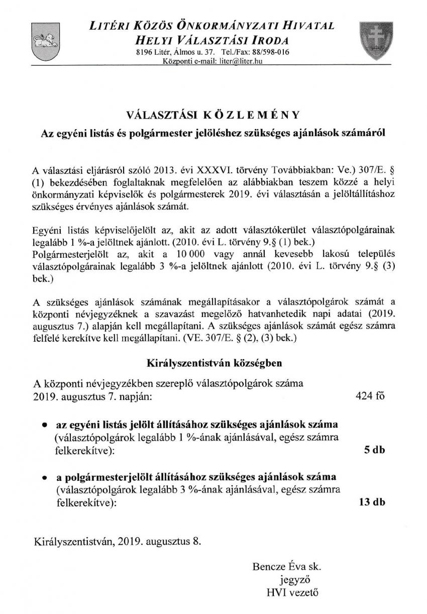 VÁLASZTÁS - 2019.10.13.