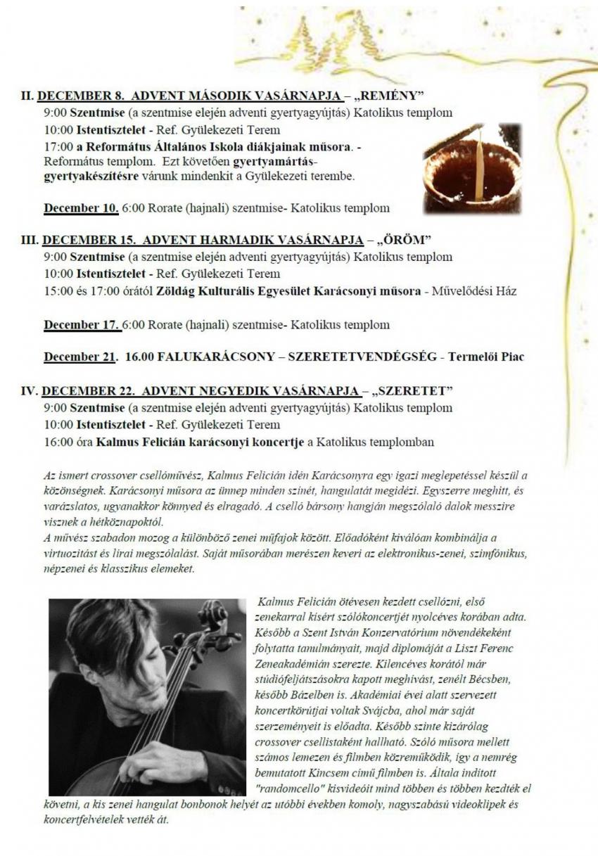 Decemberi programok Litéren!