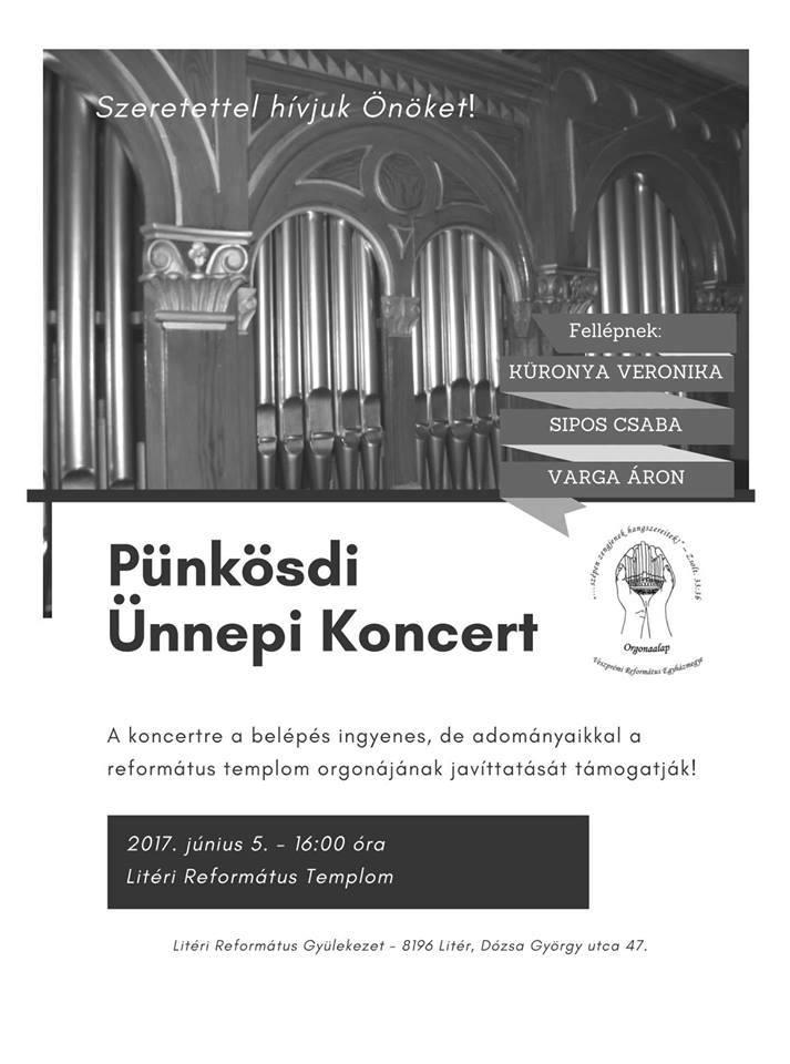 Meghívó - Pünkösdi ünnepi koncert