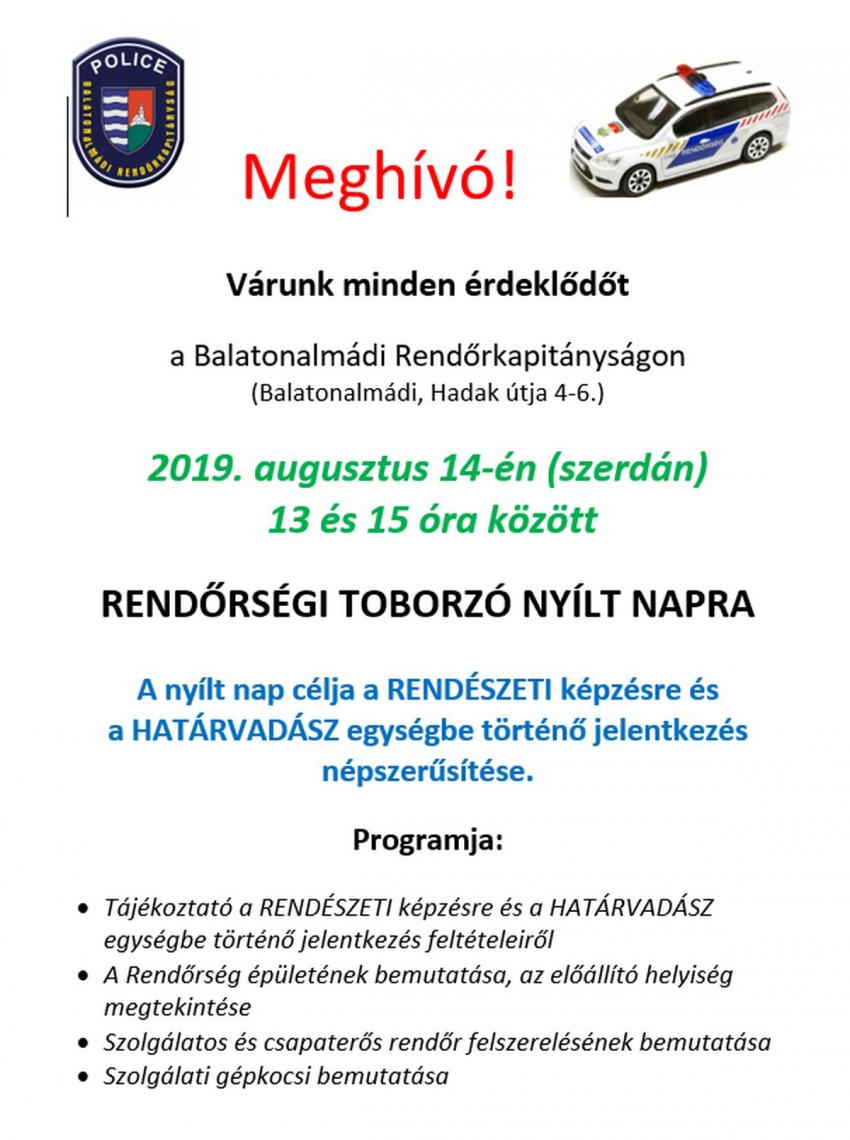 Rendőrségi toborzó - 2019.08.14.
