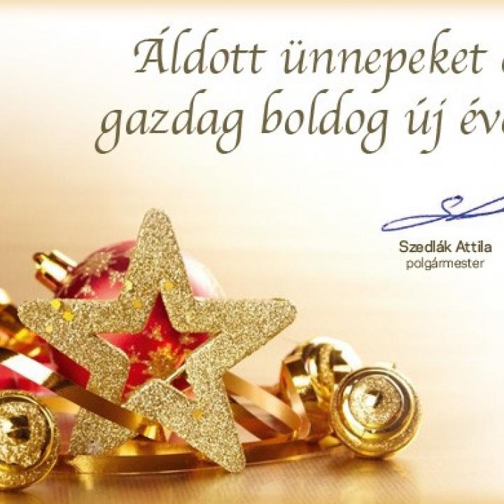 Áldott ünnepeket és sikerekben gazdag boldog új évet kívánunk!