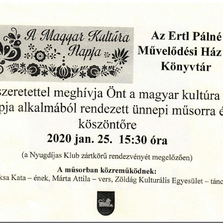 Magyar Kultúra Napja - 2020.