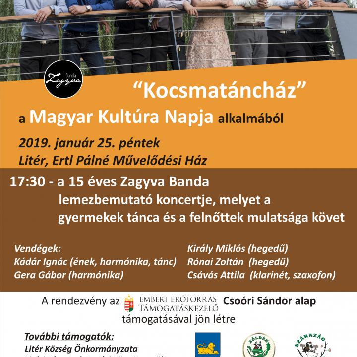 Kocsmatáncház a Magyar Kultúra Napja alkalmából!