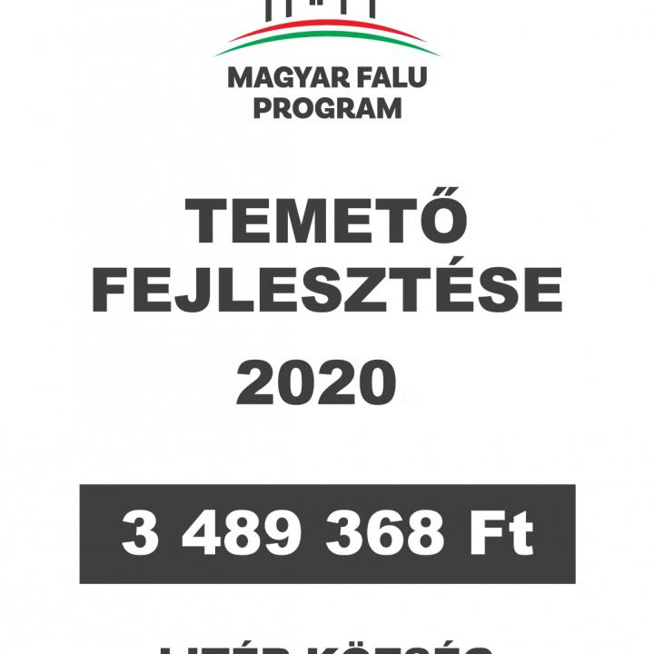 Magyar Falu Program - Temető fejlesztése