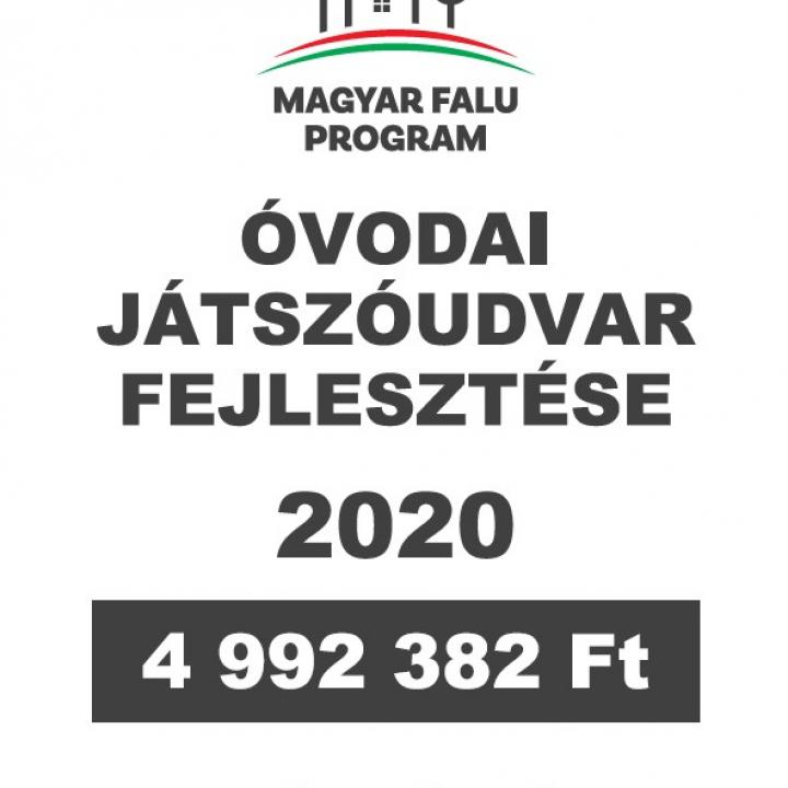 Magyar Falu Program - Óvodai játszóudvar fejlesztése