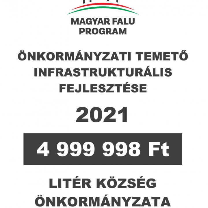 Magyar Falu Program - Temető infrastrukturális fejlesztése