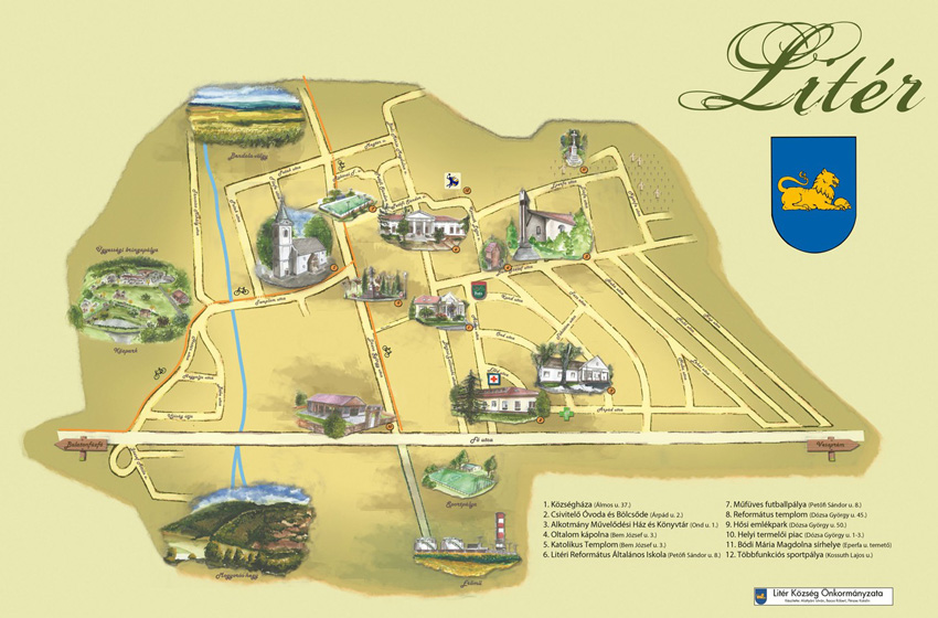 Litér térképe