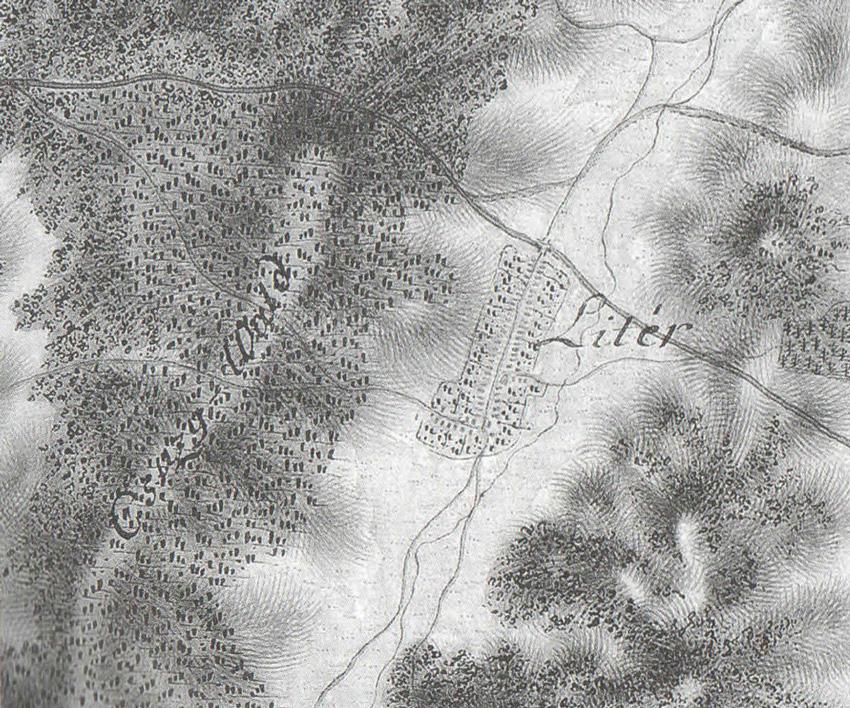 Litér katonia térképe